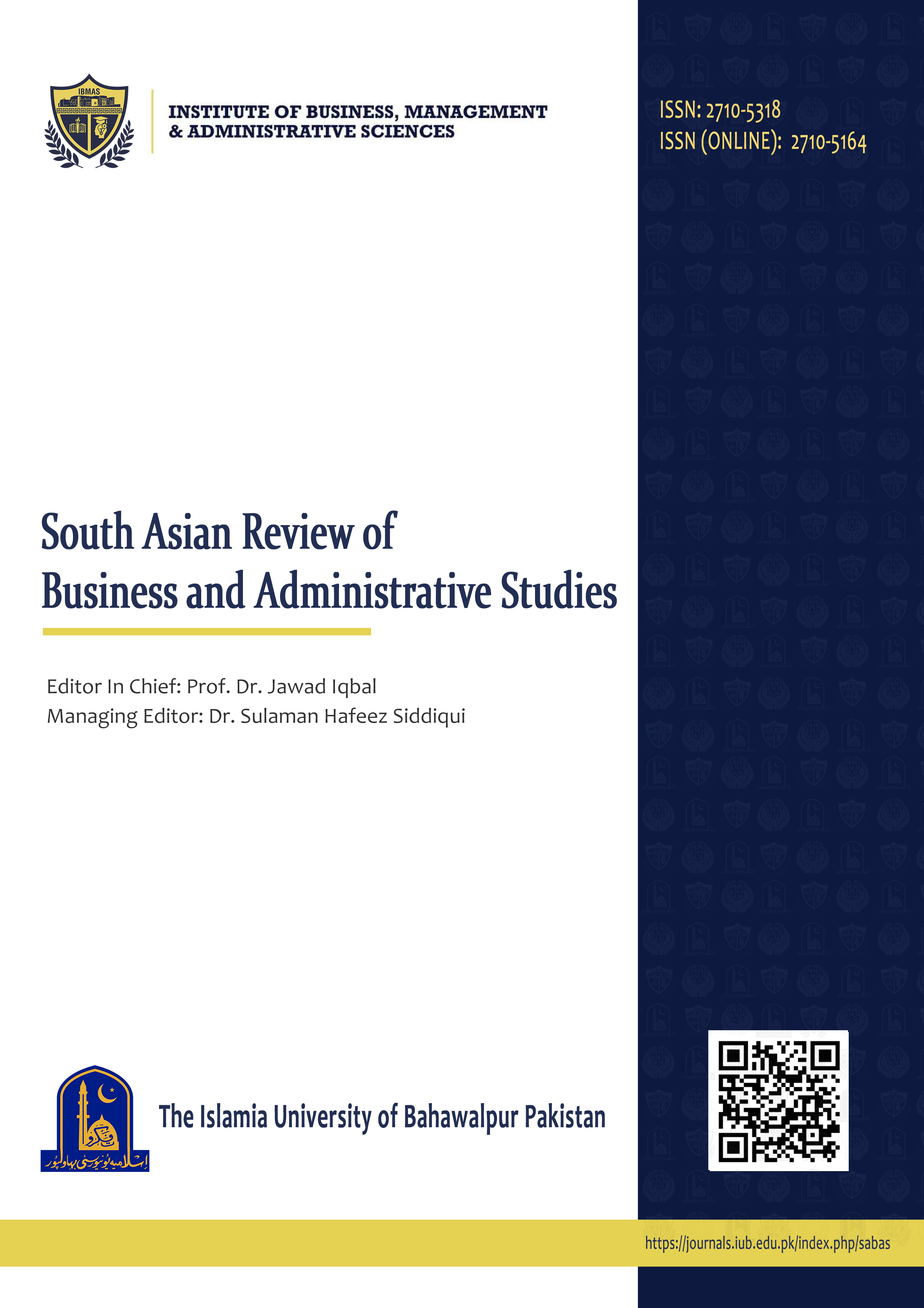 South Asian Review of Business and Administrative Studies (SABAS)