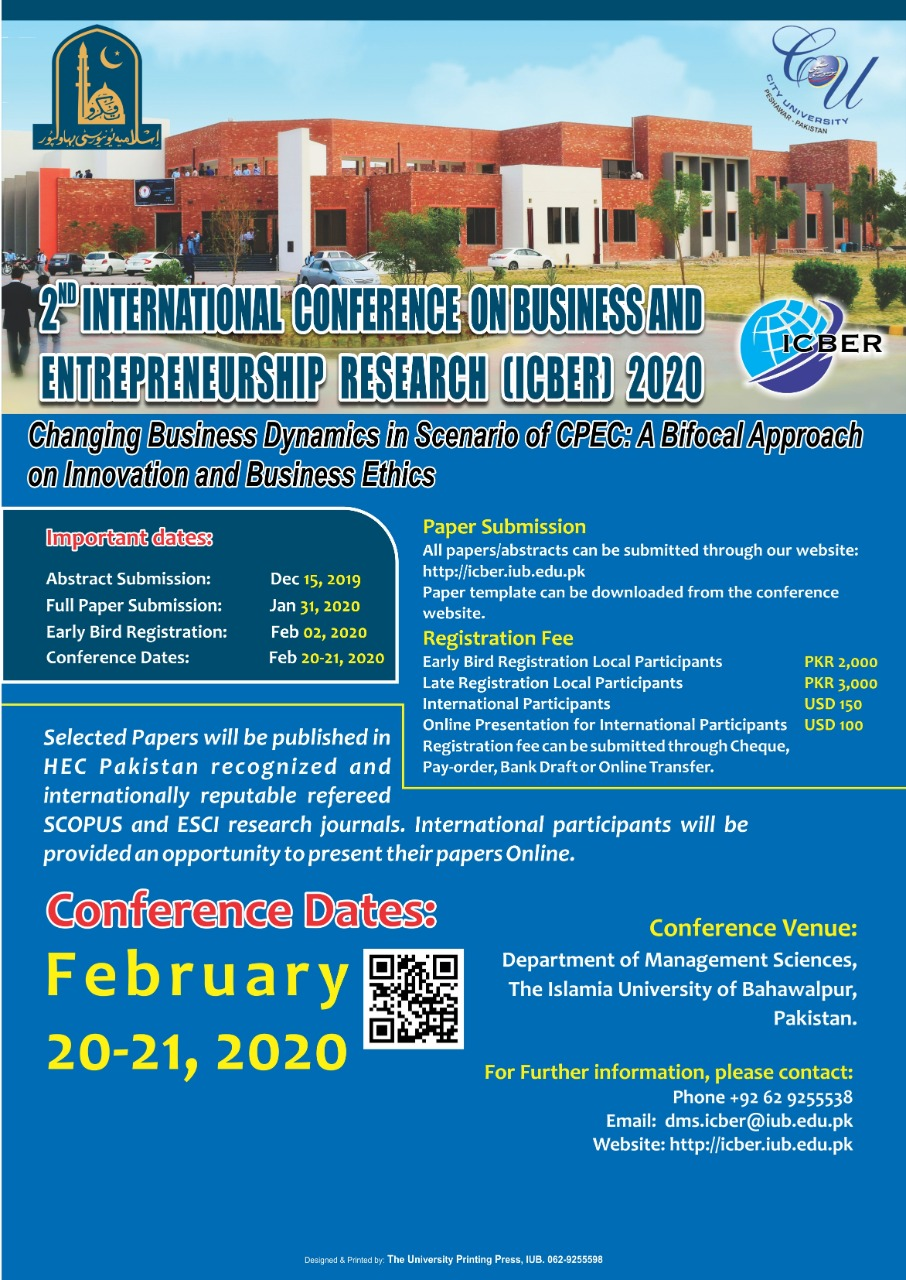 2nd International Conference on Business and Entrepreneurship Research (ICBER) 2020